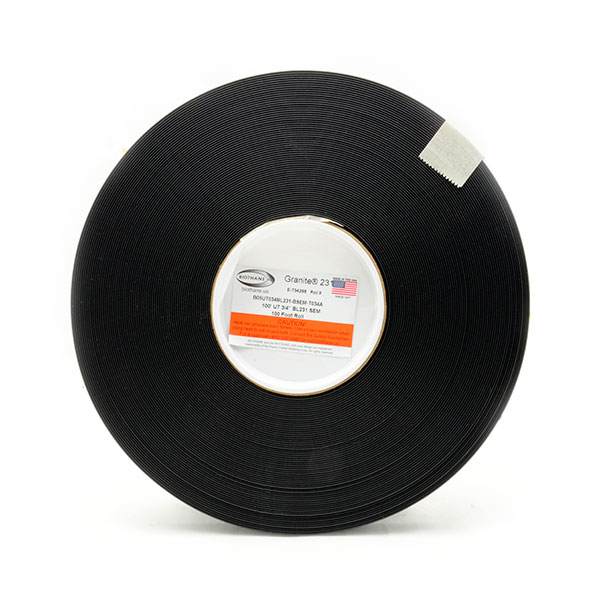 "100' Sample Roll - UltraThin 3/4"" Granite® Black (BL231)"