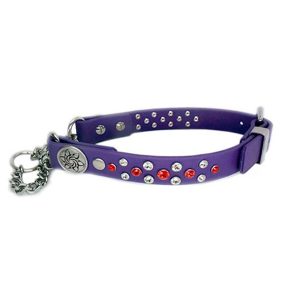 Image of a fancy, personalized dog products from Collars by Kitt.