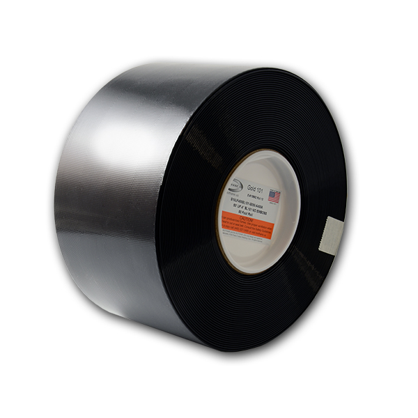 "50' Sample Roll - Super Flex (UF) 4"" Gold Black (BL101)"